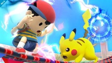 Go Pikachu! Suck it, Ness. Image from Kotaku.com
