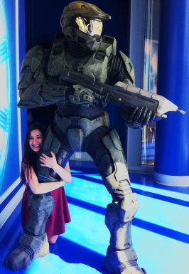Alisha and Master Chief are best buds now. Master Chief is super excited about it!