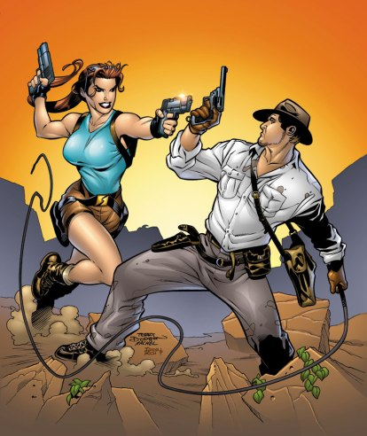 Without Indiana Jones, we might not have Indiana-Lara Croft fanfiction! (oh god) Image from comicvine.com